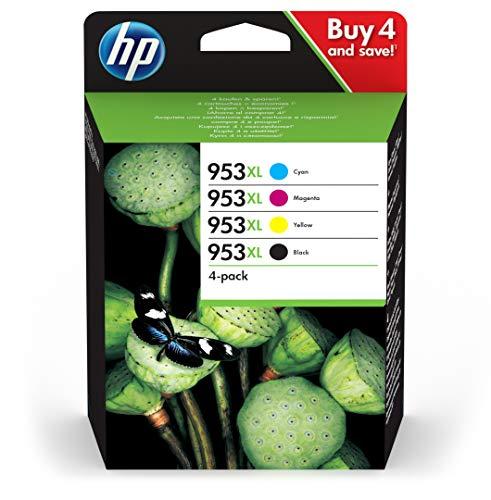 HP 953XL Multipack (Blau/Rot/Gelb/Schwarz) Original Druckerpatronen mit hoher Reichweite für HP Officejet Pro 8210, 8710, 8720, 8730, 8740