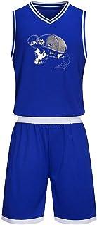 バスケットボールウェア 上下セット Sick Of It All バスケットボールユニフォーム Vネック ノースリーブ Tシャツ バスパン トレーニング バスケウェア バスケットボールジャージセット 子供用