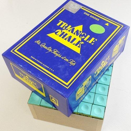 Billard Kreide Triangel blau 144 St/ück Box