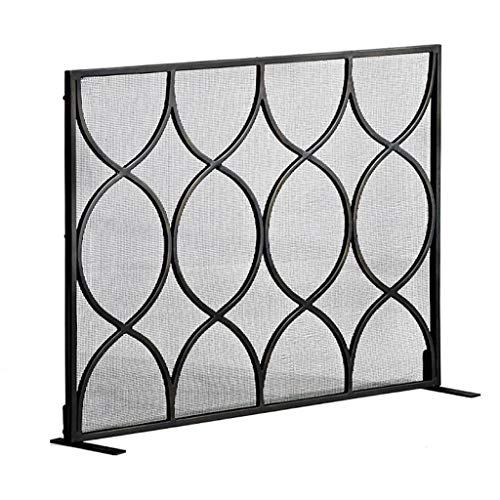 Lowest Price! Fireplace Screen Living Room European Black Mantelpiece Decoration Wrought Iron Screen...