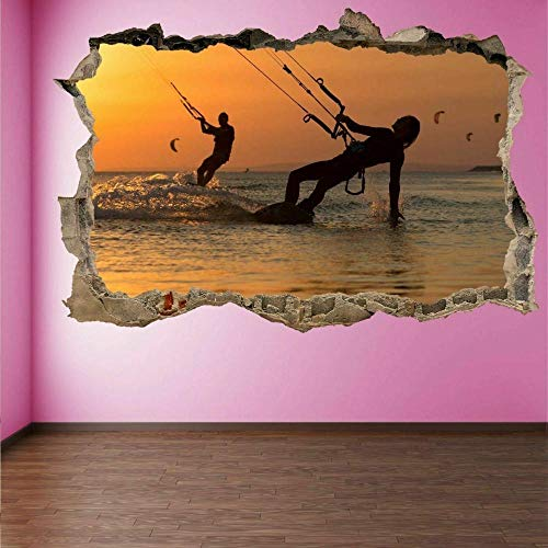Nicoole Wall Sticker Kiteboarding Extreme Sports Wall Art Stickers Mural...