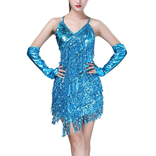 Gyratedream Latin Tanzkleid Damen Wettbewerb Kostüme Ballsaal Salsa Samba Rumba Tango Karneval Tanzen Kleidung