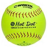 Worth 12' ASA Hot Dot Slowpitch Softball (Dozen)