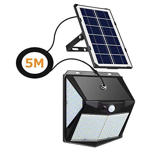 YOUAU Solar Lights Outdoor, 240 LED Solar Spotlight IP65 Waterproof Outdoor Lights Security Solar 3 Sensor Modes for Yard, Garage, Front Door