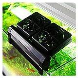GUANGHEYUAN-J Acuario Refrigeración Ventilador Caja De Enfriamiento Frío Aire Temperatura Control Productos 2 Nivel De Viento Ajustable 1/2/3/4 Ventilador (Color : UK Plug, Size : 3 Fans)