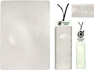 Premium Fresnel Lens 4 Pack Set. Large Full Page 8.3