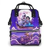 Mochila para pañales - Aladdin lámpara multifunción impermeable mochila de viaje maternidad pañales cambiantes bolsas