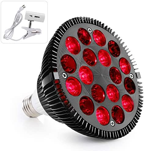 Red Light Therapy Lamp with Light Socket for Home Use Facial Light Therapy 660nm 850nm 18 LEDs product image