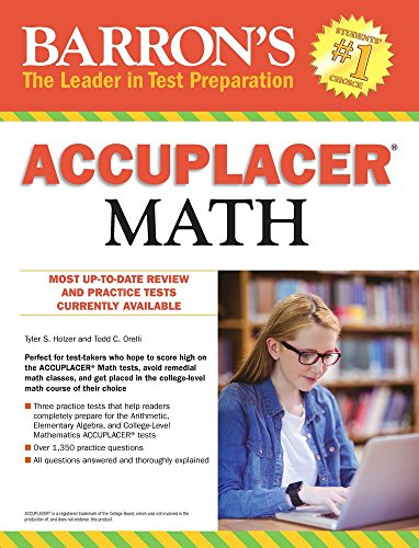 Compare Textbook Prices for Accuplacer Math  ISBN 9781438009032 by Holzer, Tyler S.,Orelli, Todd C.