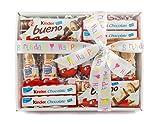 Hamper Cesta con chocolatinas Kinder, para regalo de cumpleaños, personalizable