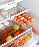 Fridge Egg Drawers Refrigerator Egg Storage Container Refrigerator Pull Out Bins Snap On Drawer Organizer Egg Storage Box Space Saver