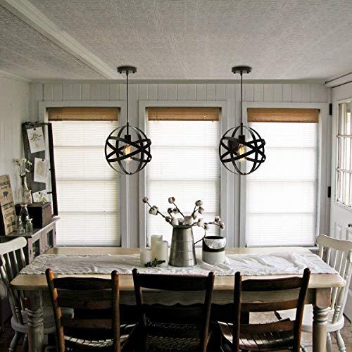 2020 Retro Lamp Globe Plafond Van Cage Kroonluchter Chandelier Bal Van Industrial Metal To The Restaurant/open haard Black 20/30 CM,Black,20 cm