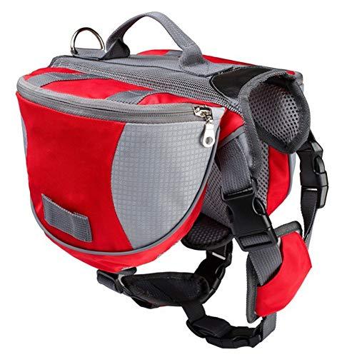 Zongha Dog Backpacks Dog Harness Backpack Adjustable Dog Backpack Pet Bag For Dog Dog Walking Accessories Dog Travel Accessories Dogs Self Backpack red,S