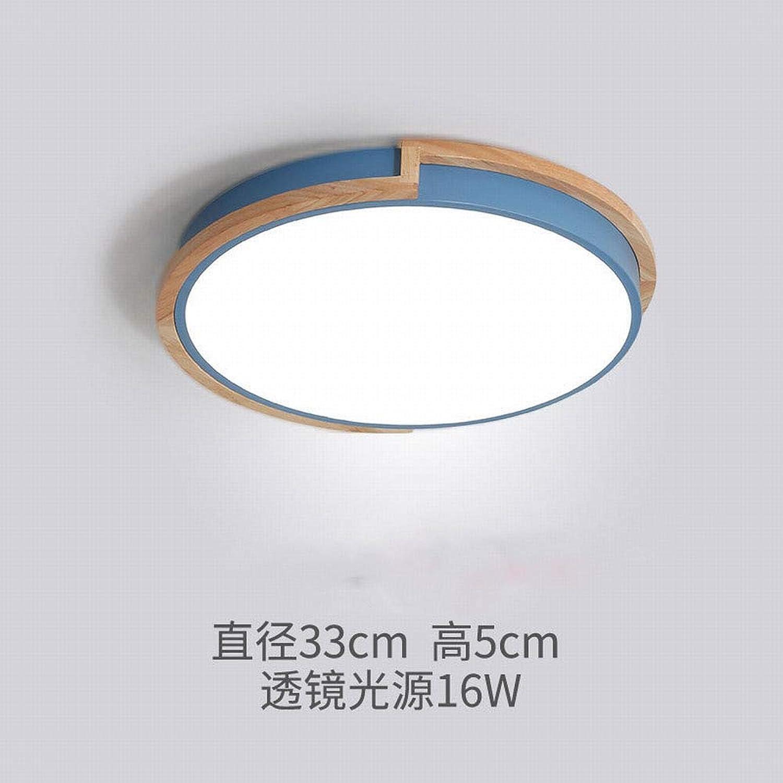 MackeJacke Schlafzimmerdeckenlampe Kreative Einfache Moderne Led Lampe 33  5  33Cm Blaues Dreifarbiges Licht