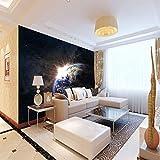 ZJFHL 3D-Tapete Erde Wandtuch tapete großes Poster für Wohnzimmer, Schlafzimmer, TV, Heimdekoration, nicht gewoben 400CMx280CM