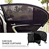 2 Pcs Flexible Auto Side Fenêtre Arrière Sun Shade Maille Rideau De Voiture UV Protection Maille Couverture Mosquito Poussière Manchon De Protection