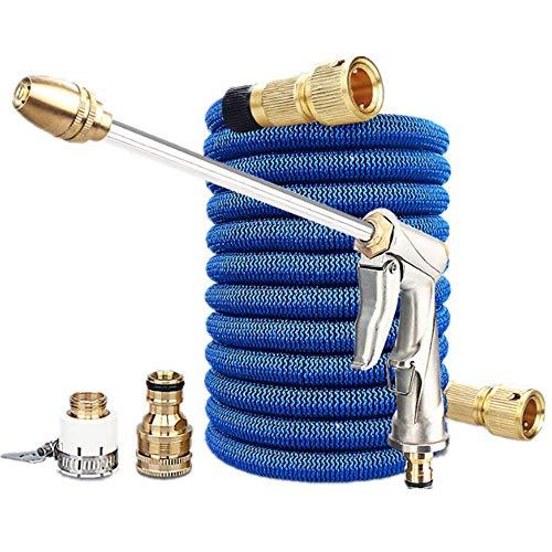 Expandable tuinslang Pipes Uitgerust met 8 verstelbare Functie Spray Nozzles/hoge-druk waterstralen, Duurzaam-Resistant, geschikt voor de tuin Car Cleaning,50FT