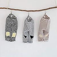 ズボン ストライプ パンツ カジュアル キッズ ファッション 夏 韓国子供服 3色(ブラック、グレー、ブラウン)サイズ(66-90㎝) SALE