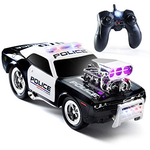 Prextex RC Police Car Remote Control Police Car RC Toys Radio Control Police Car Great Toys