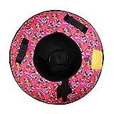 LZL Tubo de Nieve |Heavy Duty con Fondo Un plástico Duro, Nylon Durable del Top |remolcable |Alta Velocidad Trineo de la Nieve Inflable Tubo de Nieve Trineo (Color : Pink)