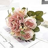 ASDGSDS Flores Artificiales, 1 Ramo de Flores Artificiales para decoración del hogar, Accesorios, Suministros de Boda, Accesorios para Fotos, Regalo para Plantas de Interior, 2