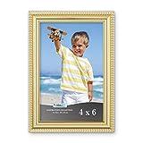 Icona Bay Cadre Photo 6x4 (Or, 1 Paquet) Moulure Magnifiquement détaillée, Cadre Photo Contemporain, Support Mural ou Dessus de Table, Collection Inspirations