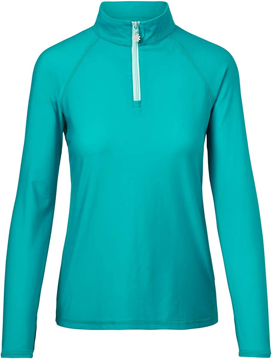 UV SKINZ UPF 50+ Our shop OFFers the best service Womens Long Sleeve Sun At the price Shirt Quarter Swim Zip