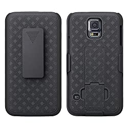 small Galaxy S5 cover, protective holster cover with slim rotating belt clip, protective cover for the stand …