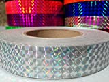 60 ft. roll of 1' Silver Metallic Holographic Hula Hoop Craft Tape