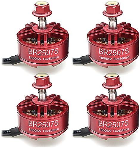 comprar barato KINGDUO Drone De 4 x Racerstar 2507 Br2507S Fuego Edición Edición Edición 1800Kv Brushless Motor para RC FPV Carreras Marco  solo cómpralo