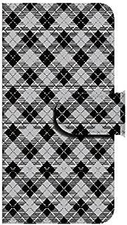 Xperia ZL2(SOL25) シェパードチェック2(ブラック) 【鏡付き】 手帳型スマホケース ql552-c0950_am ミラー付き