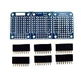 Oyamihin Base Tripla di Alta qualità per WeMos D1 Mini ESP8266 Dua Shield Board-Blue...
