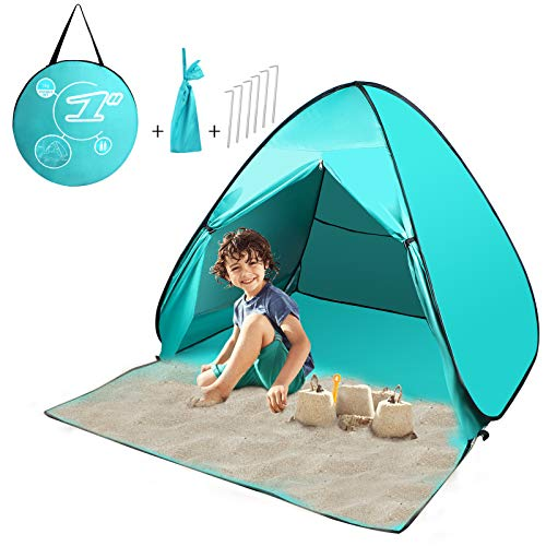 FBSPORT Beach Tent,Pop Up Beach Shade, UPF 50+ Sun Shelter Instant Portable Tent Umbrella Baby Canopy Cabana with Carry Bag for 2-3 Person