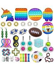 BST-MAI 21 Pièces Jouets Sensoriels, Fidget Toys Pack Pas Cher, Bon Marché Gadgets Anti-Stres, Sensory Toy Set pour TDAH Autisme Les Enfants Adultes, Outils de Soulagement du Stress et Anti-Anxiété