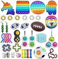 Fidget Toy Packs, 37 Piezas Juguetes Sensoriales, Juguetes Antiestrés Pack, Juguetes Antiestré, Fidget Alivia Estrés y...