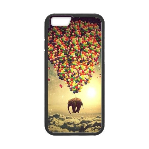 iPhone 6S Plus Funda, DIY Coloridos Globos patrón para iPhone 6S Plus (5.5Inch) Negro Back Cover teléfono móvil [xmmcase]