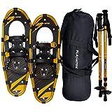 FLASHTEK 25 Inches Snowshoes for Men and Women, Light Weight Aluminum Terrain Snowshoes
