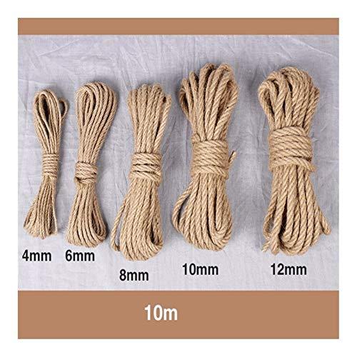 HSDFH LHBH 10M Cuerda de Yute cordón de Cadena DIY de la decoración Hecha a Mano Rascar Mascotas 4 mm a 12 mm (Color : 6MM)