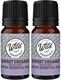 Wild Essentials'Sweet Dreams' 100% Pure Essential Oil Synergy Blend 2 Pack 10ml, Therapeutic Grade, Use for insomnia, sleep, rest, relaxation, night terrors, anxiety, Made and Bottled in the USA