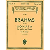 Sonata for Violin and Piano in D Minor, Op. 108 (Schirmer's Library of Musical Classics Vol. 1303)