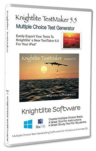 Knightlite TestMaker 5.5 Multiple Choice Test Creator Win/Mac