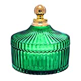 Tarros de Cocina Tarro de cristal de rayas verdes vintage con tapa para objetos pequeños Joyas de almacenamiento Jar Thream Thream Thream Threamtop Decoration Decoración Botes Herméticos ( Size : S )