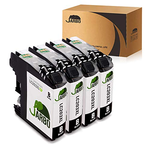 JARBO Compatible Ink Cartridge Replacement for Brother LC203XL, 4 Black, Used in Brother MFC-J480DW MFC-J680DW MFC-J880DW MFC-J460DW MFC-J5520DW MFC-J4420DW MFC-J4620DW MFC-J5720DW Printer