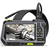 Dual Lens Endoscope with 5' Monitor, Teslong NTS500 Industrial Waterproof Borescope...