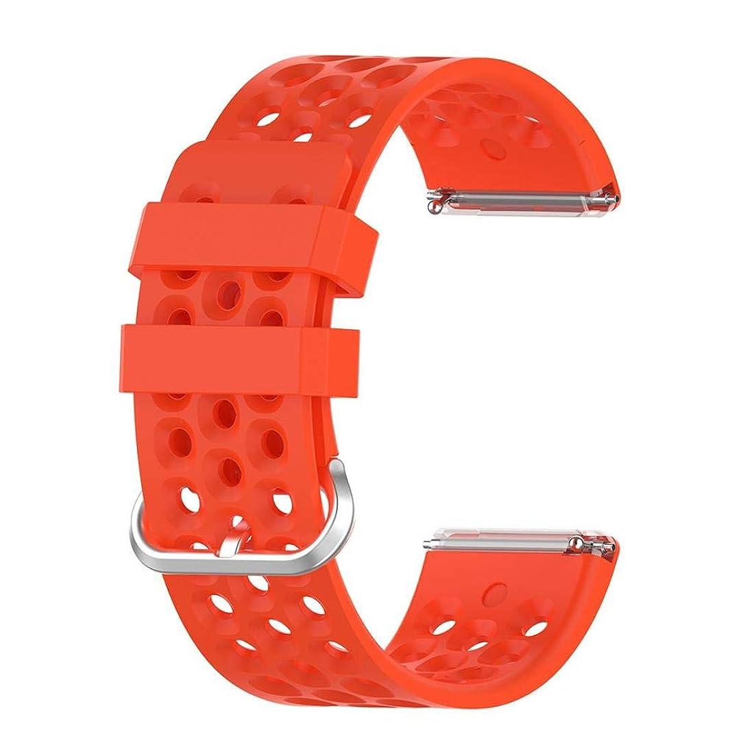 宿題をする転送放射能B Baosity シリコン時計ストラップ 腕時計バンド 時計替えベルト Fitbit Versa 2/1/Lite専用 - 赤