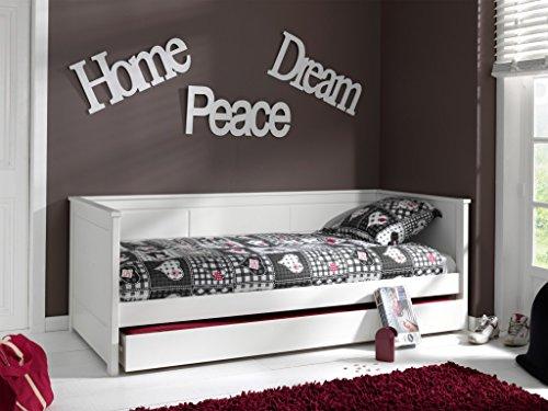 Vipack Kojenbett Pino Kinderbett Einzelbett Jugendbett Bett Weiß