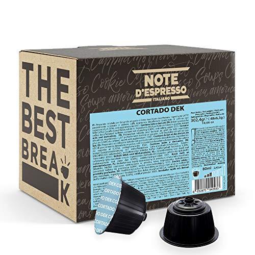 Note D'Espresso - Cortado Dek - Capsule Compatibili Soltanto con Nescafé e Dolce Gusto* - Confezione da 48