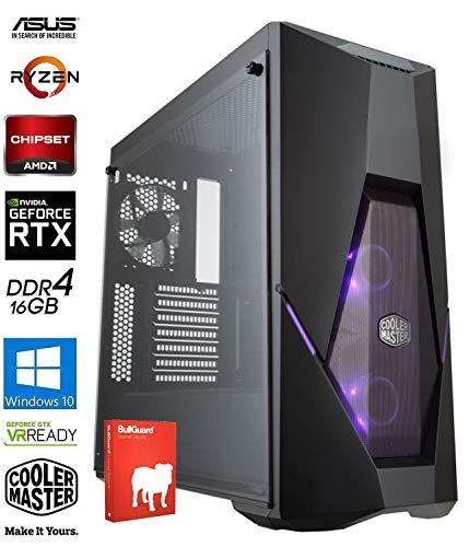 SNOGARD GAMER PC | AMD Ryzen 5 3500X Hexa Core | 16GB DDR4 | 480GB SSD | 8GB ASUS ROG STRIX GeForce RTX3060Ti OC | W10Pro