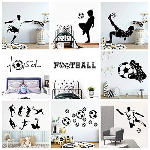 BLOUR FC Wandaufkleber Fußball Fußball Aufkleber für Kinderzimmer Dekoration Vinyl Aufkleber Poster Jungen Schlafzimmer Dekor Tapete Wandbild