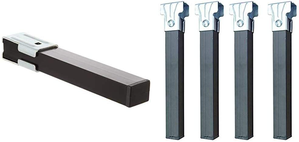Imex El Zorro 81426 - Juego 4 Patas Somier, Metal, 270 x 40 x 30 mm + El Zorro Juego 4 Patas somier sin Ruedas, Metal, Neutro, 30x3x3 cm